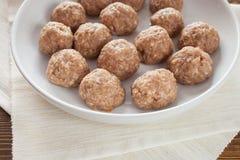 Vleesballetjes in waren voor het roosteren Royalty-vrije Stock Afbeelding