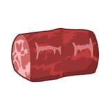 Vleeslapje vlees geïsoleerde illustratie Stock Fotografie