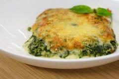 Vleespastei met spinazie royalty-vrije stock foto