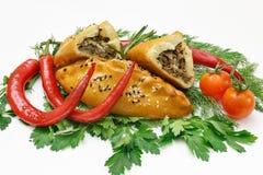Vleespasteien stock foto's