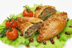 Vleespasteien stock afbeelding