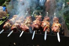 Vleespennen Stock Foto's