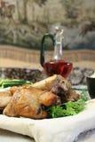 Vleespennen van kip in pitabroodje Royalty-vrije Stock Foto's