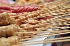 Vleespennen van vleesballetje Stock Afbeeldingen