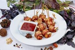 Vleesroulette met Bacon royalty-vrije stock afbeeldingen