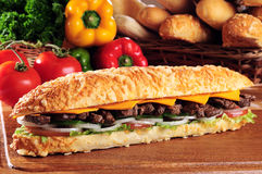 Vleessandwich Stock Afbeeldingen