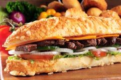 Vleessandwich Royalty-vrije Stock Afbeelding