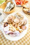 Vleesschotel Stock Fotografie