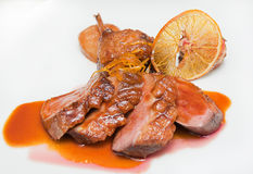 Vleessinaasappel Stock Foto
