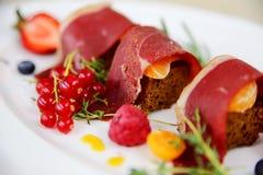 Vleessnacks Royalty-vrije Stock Afbeeldingen