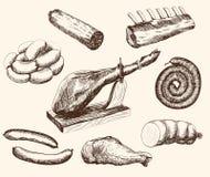 Vleeswaren royalty-vrije illustratie