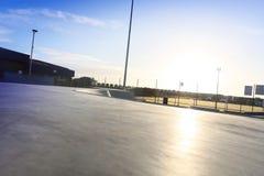 Vleetpark met blauwe hemel Royalty-vrije Stock Fotografie