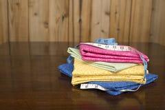 Vleiend gekleurd dekbedmateriaal 2 stock afbeelding