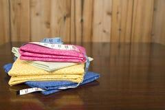 Vleiend gekleurd dekbedmateriaal 3 royalty-vrije stock afbeeldingen