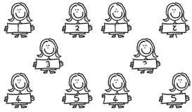 Vlek 1 tot 5 van het kind het verschil Stock Fotografie