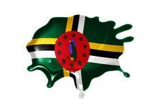 Vlek met nationale vlag van dominica Stock Afbeeldingen