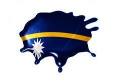 Vlek met nationale vlag van Nauru Royalty-vrije Stock Foto's