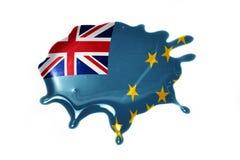 Vlek met nationale vlag van Tuvalu Stock Afbeeldingen