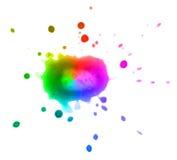 Vlek op witte achtergrond wordt geïsoleerd die Multi-colored Stock Foto