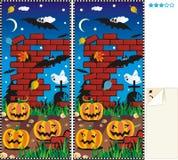Vlek tien verschillen - Halloween Royalty-vrije Stock Fotografie