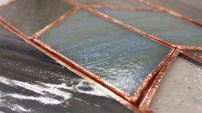 Vlekglas Stock Foto's