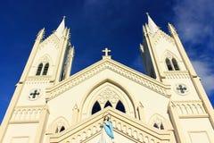 Vlekkeloze Concepción Cathedral op Palawan-eiland royalty-vrije stock afbeeldingen