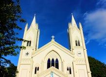 Vlekkeloze Concepción Cathedral op Philuppines royalty-vrije stock afbeeldingen