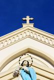 Vlekkeloze Concepción Cathedral in Puerto Princesa royalty-vrije stock afbeelding