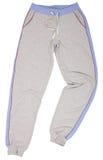 Vlekken Sweatpants op een wit wordt geïsoleerd dat Royalty-vrije Stock Foto's