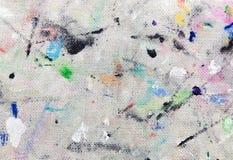 Vlekken van gekleurde verf op stof vector illustratie