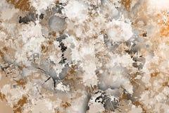 Vlekken van het schilderen conformig beeld van blauwachtige kleur Stock Fotografie
