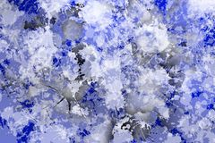 Vlekken van het schilderen conformig beeld van blauwachtige kleur Royalty-vrije Stock Foto's