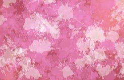 Vlekken van het schilderen conformig beeld van purpere kleur Stock Fotografie
