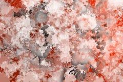 Vlekken van het schilderen conformig beeld van roodachtige kleur Royalty-vrije Stock Afbeeldingen