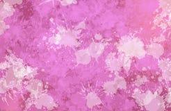 Vlekken van het schilderen conformig beeld van roze kleur Royalty-vrije Stock Foto