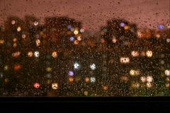 Vlekken van regen Stock Foto