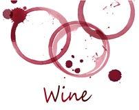 Vlekken van rode wijn Royalty-vrije Stock Foto's