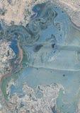 Vlekken van verf op papier De textuur van de plonsen en de vlekken van verf vector illustratie