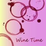 Vlekken van wijnwaterverf Stock Foto's
