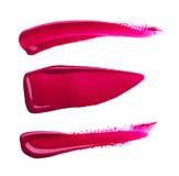 Vlekkenverf van cosmetischee producten Stock Foto