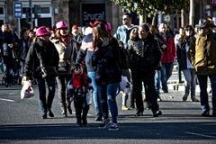 Vleselijk Cadiz Mensen in straat 58 Royalty-vrije Stock Fotografie