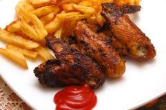 Vleugel en chips3 Stock Afbeelding