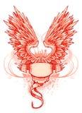 Vleugel en frame stock illustratie