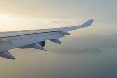 Vleugel van een vliegtuig Royalty-vrije Stock Afbeeldingen
