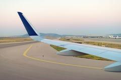 Vleugel van een vliegtuig Royalty-vrije Stock Afbeelding