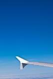 Vleugel van het vliegtuig Stock Fotografie