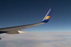Vleugel van Icelandair Stock Afbeelding