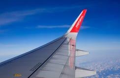Vleugel van Vietjet-vliegtuig royalty-vrije stock foto