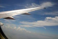 Vleugel van vliegtuig stock afbeeldingen