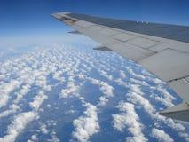 Vleugel van vliegtuig. Royalty-vrije Stock Foto